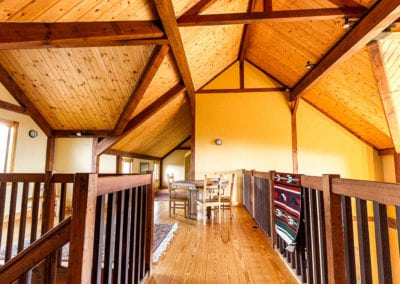 Timbers, handrails, woodfloors
