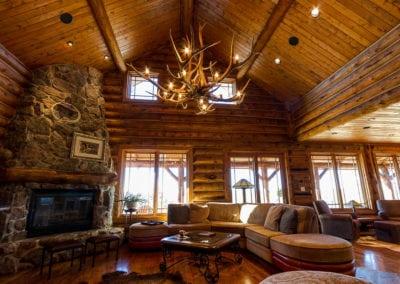 Log Home Living Room