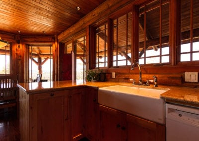 Wood and Log Kitchen