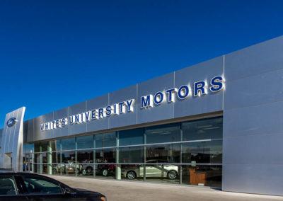 Whites University Motors Main Entrance